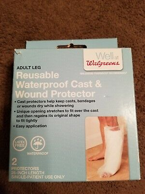 "Walgreens Adult Leg Reusable Waterproof Cast Wound Protector 2 - 26"" Latex Free"