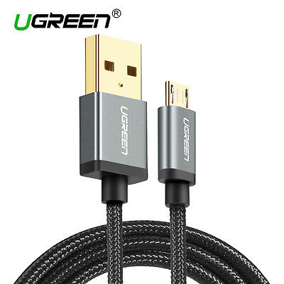UGREEN Micro USB Cable Nylon Braided Fast Charging Cable For Andriod Samsung 3FT