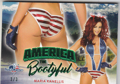 2017 Benchwarmer America The Beautiful Maria Kanellis Bootyful Butt Card /3