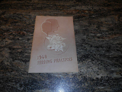 1948 Livestock Feeding Practices brochure 40 pages
