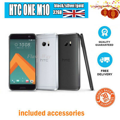"""New Sealed in Box* HTC 10 (ONE M10) 5.2"""" 32GB Unlocked Samrtphne All Colors UK"""