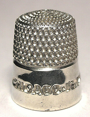 Mint Simons Polished Pewter Thimble from the First TCI Convention - Chicago 1978