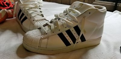 ADIDAS 789002 MENS Size 9 Pro Model Athletic Shoes White with black ... 9f458f73f