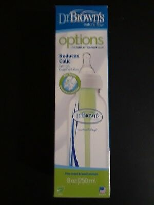 Dr Browns Natural Flow Options 8oz Bottle. Stage 1 nipple. 0+ months. New!