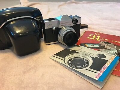 Kodak Instamatic Reflex Camera with Schneider-Kreuznach 45 mm lens in case