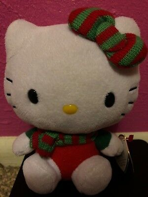 hello kitty plush 6inch Christmas With Tag