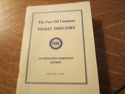 Vintage Pure Oil Pocket Directory for Southeastern Marketing - Free Shipping