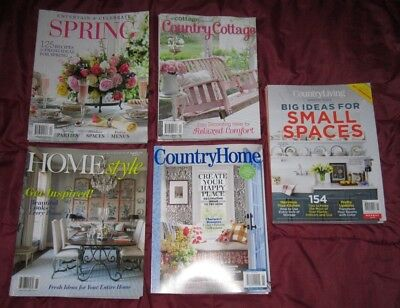 5 COTTAGE Country Home MAGAZINEs 2019 Brand New Free Shipping
