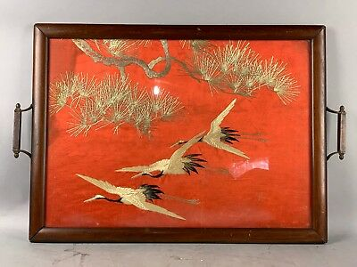 18th/19th C. Chinese Framed Embroidered Cranes
