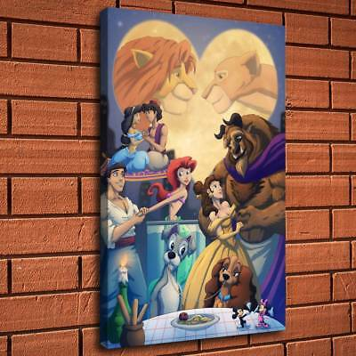 """12""""x18""""Disney HD Canvas print Painting Home Decor Picture Room Wall art Poster"""