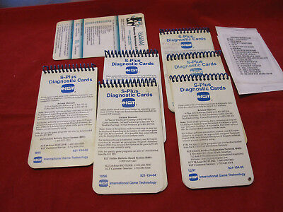 IGT S-PLUS Diagnostic Cards. RARE. NR.