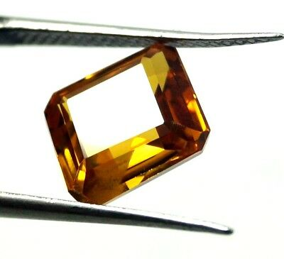 GGL Certified 4.30 Ct Emerald Cut Natural Yellow Sapphire Gemstone New Offer