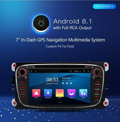 Xtrons Pc78Fsf-B Android 8.1 4Core Autoradio Navi Gps X Ford Focus Mondeo Cmax