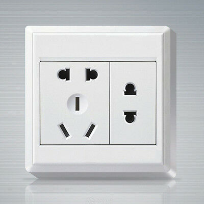 ASI Power Socket Wall Plate Panel Outlet Double 2pin US and AU Plug
