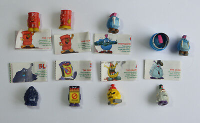 Yowies - Grumkins Figurines - Full Set With Papers And Extras