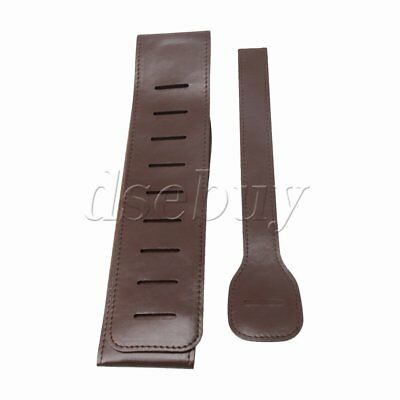 Adjustable Brown PU Leather Strap for Electric Classical Guitar Bass Accessory