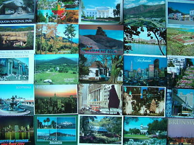100 Unused Postcards THE UNITED STATES OF AMERICA.  Good - Near Mint condition..