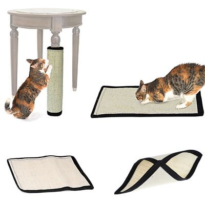 Practice Sisal Kitten Scratching Pad Cat Toys Training Board Mat Home Protection