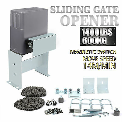 2Sliding Gate Opener Electric Operator Automatic Roller Remote Control 1400lbs