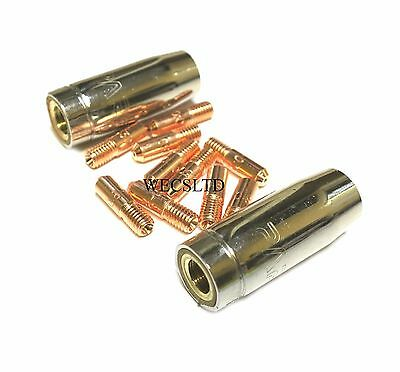 Shroud Screw On x 2 SIP etc A34 Compatable MIG Torch Conical Gas Nozzle