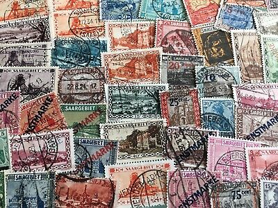 Germany SAAR SAARGEBIET collection of 50 different stamps. Very good choice!!