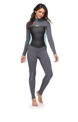 3/2mm Syncro Series Combinaison ROXY back zip surfing wetsuits ERJW103024 XGGB