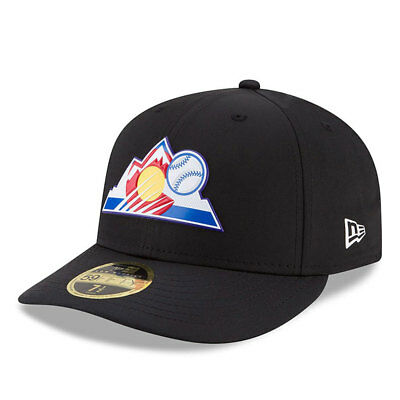 Colorado Rockies New Era Low Profile MLB Prolight Fitted Cap Size - 7 3/8