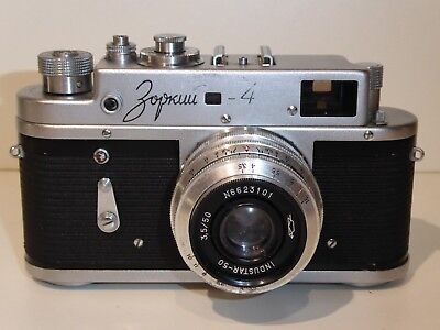 Zorki 4 Rangefinder Camera With Industar 3.5 50Mm Lens - For Spares Or Repair