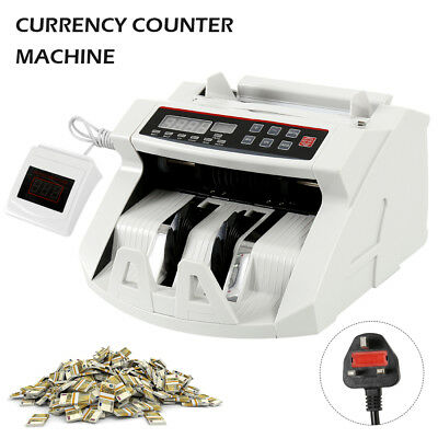Bank Note Banknote Money Currency Counter Automatic Pound Cash Count Machine New