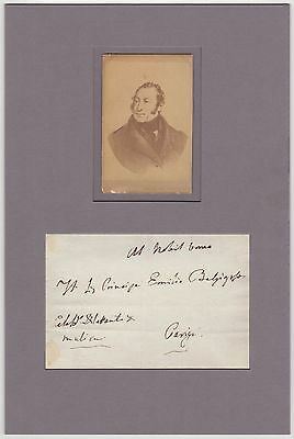 Gioachino Rossini (composer) – autographed envelope matted
