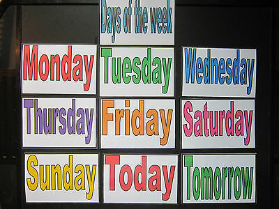Days of the week & Today & Tomorrow Cards- Autism PECS Dementia Early Yrs Visual