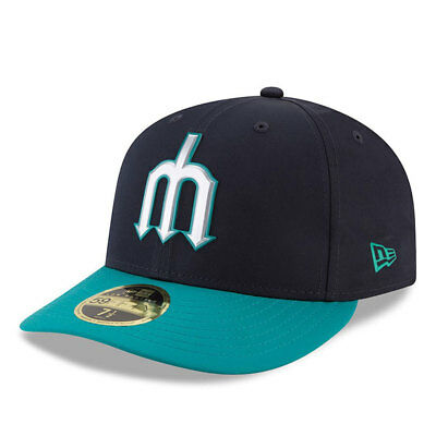 Seattle Mariners New Era Low Profile MLB Prolight Fitted Cap Size - 7 3/8