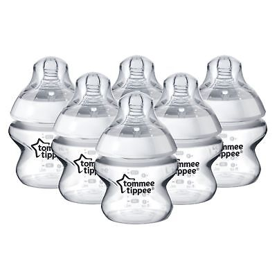 6 x Tommee Tippee Closer To Nature 150ml 5oz Baby Bottles New Sealed No Box
