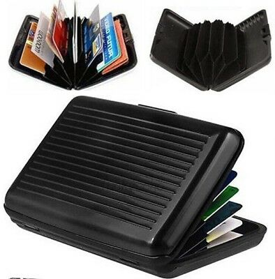 NEW RFID Scan Protected Aluminium Hard Case Security Wallet Credit Card Holder