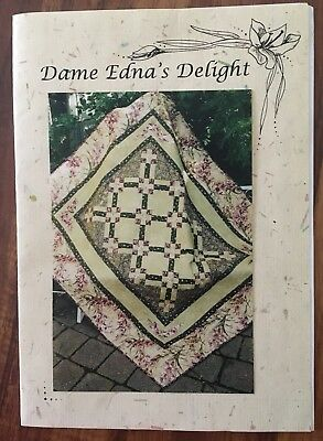 Dame Edna's Delight Patchwork Quilt Kit Fabric And Pattern