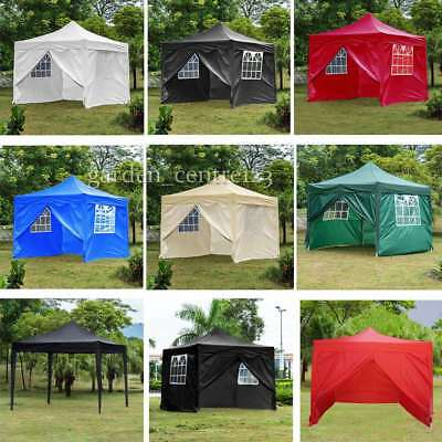 3 x 3m Waterproof Pop Up Garden Gazebo Outdoor Marquee Awning Party Tent Canopy