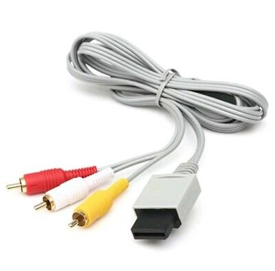 Audio Video AV Composite 3RCA Cable TV Lead Wire For Nintendo Wii Game UK SELLER