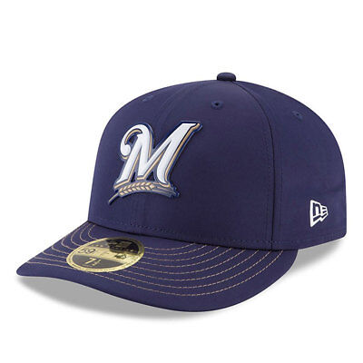 Milwaukee Brewers New Era Low Profile MLB Prolight Fitted Cap Size - 7 3/8