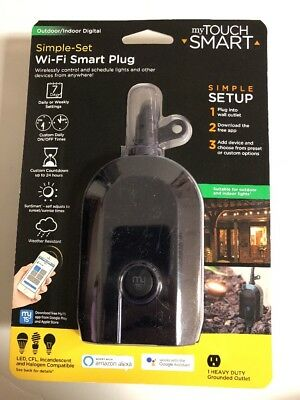 NEW SEALED Mytouchsmart Wi-Fi Smart Plug 39845 Alexa Google *LOWEST PRICED*
