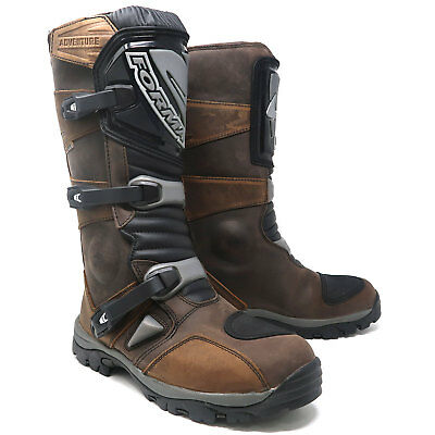 Forma Adventure Waterproof Motorcycle Motorbike Boots - Brown Size 44