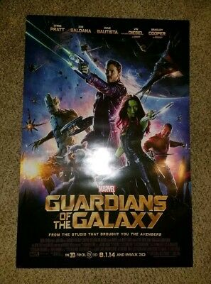 Guardians of the Galaxy MARVEL Original DS Movie Poster 27x40 double sided GROOT
