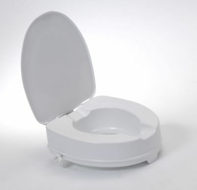 """Drive DeVilbiss Healthcare 4"""" Raised Toilet Seat with Lid"""