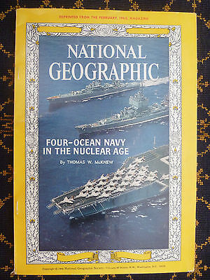 US NAVY~~FOUR-OCEAN NAVY IN THE NUCLEAR AGE~McKNEW~NATIONAL GEOGRAPHIC~FEB 1965-