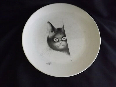 Dubout Sleeping Cat Dinner Plate