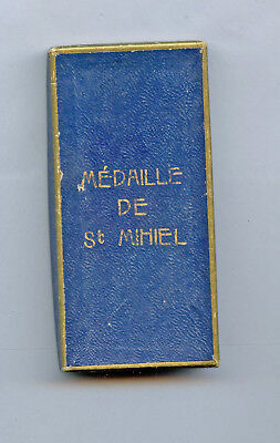 WWI WW1 AEF Medal Box VERY RARE St. Mihiel French Town Medal IMPOSSIBLE TO FIND!