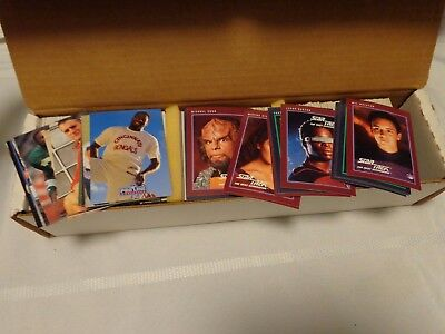 Proline NFL Football Card Collection Set 1991 Lg Box & Star Trek 25th Anniv