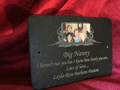 Memorial Photo Plaque - Beautiful Grave Personalised Plaque for your loved one