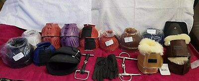 New ** Job Lot Of Equestrian Wholesale Clearance Items Overeach Boots Bits...