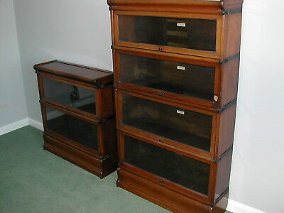 Globe-Wernicke Mahogany Bookcase 6 units 2 bases 2 tops excellent