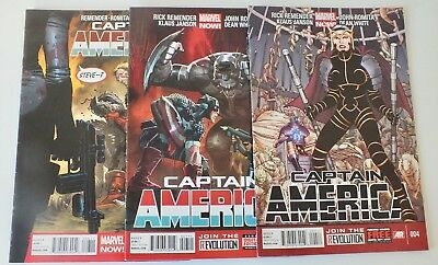 3 issues Captain America - Issue # 4, 7, 8 - Marvel NOW Comics - NM/VF - (860)